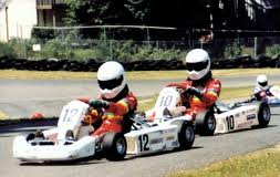 Amber and Angela Cope karts