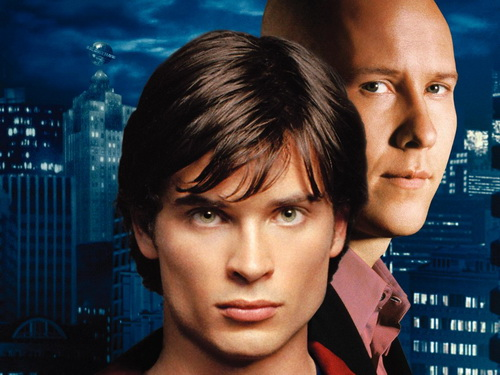 Clark Kent (Tom Welling) and Lex Luthor (Michael Rosenbaum) on Smallville