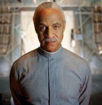 Shepherd Book in FIREFLY, played by Ron Glass