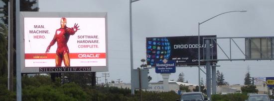 IRON MAN 2 101 Freeway ORACLE Billboard