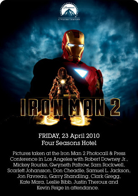 IRON MAN 2 Photocall and Press Conference