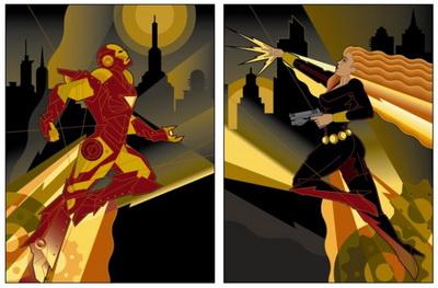 Iron Man Retro Vibe art by Mike Kungl