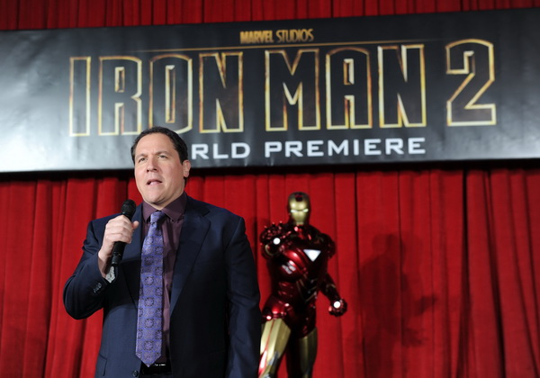 Director/Executive Producer Jon Favreau speaks at the world wide premiere of