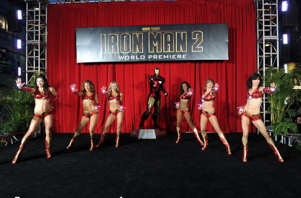 Ironette dancers perform at the world wide premiere of &quot;Iron Man 2&quot;
