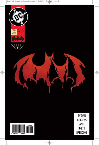 Fringe Alternate DC Comics - Death of Batman Mock Cover