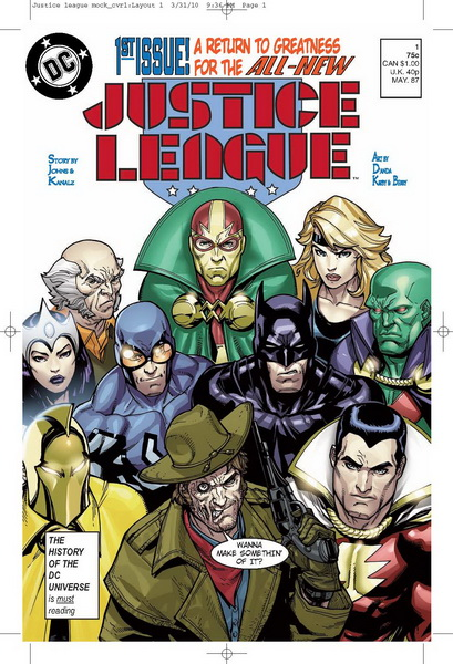 Fringe Alternate DC Comics - Justice League Mock Cover