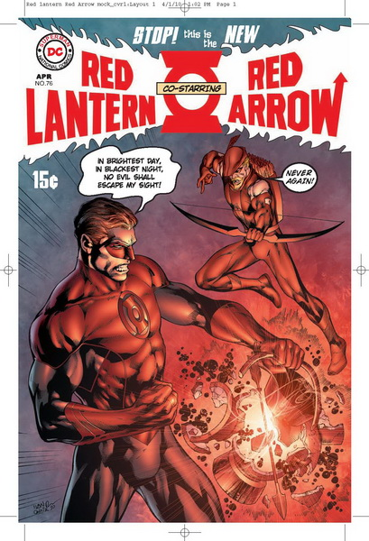Fringe Alternate DC Comics - Red Lantern Red Arrow Mock Cover