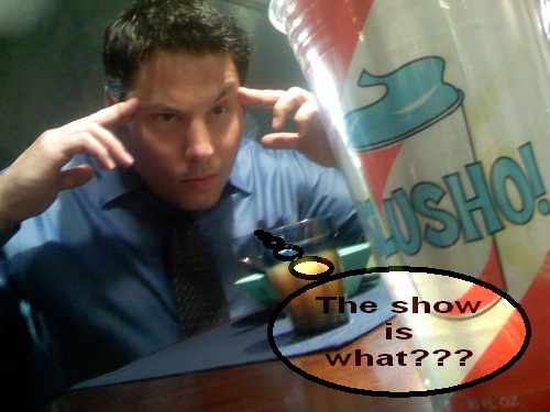 Slusho is trying to warn Matt Parkman that Heroes is Cancelled