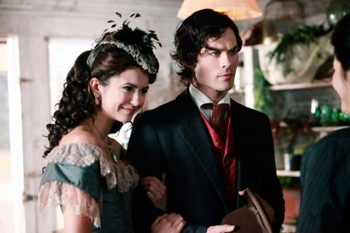 Nina Dobrev and Ian Somerhalder in The Vampire Diaries