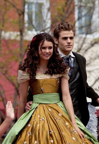 Nina Dobrev as Elena, Paul Wesley as Stefan in THE VAMPIRE DIARIES on The CW.