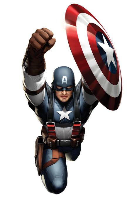 Captain America costume jump flight