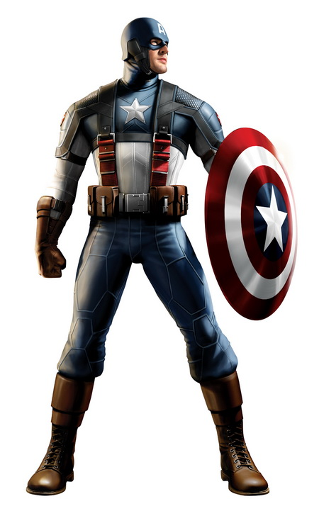 Captain America costume standing