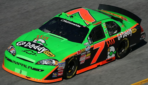 Danica Patrick in the Jr Motorsports No 7 Chevy