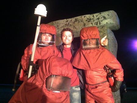 Misha Collins in Stonehenge Apocalypse TwitPic Image