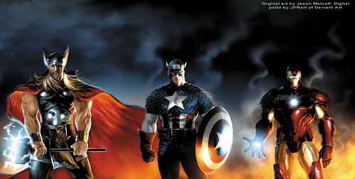 The Avengers: Thor, Captain America, Iron Man