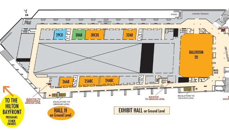 Comic-Con Map - HALL H and Ballroom 20