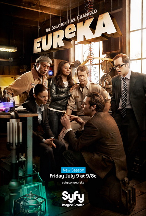 Eureka season 4 on the Syfy Channel promo art