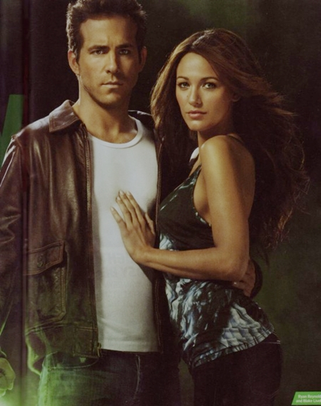 GREEN LANTERN Promo Art - Ryan Reynolds and Blake Lively