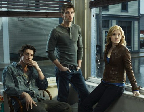 Haven on Syfy with (L-R) Eric Balfour - Lucas Bryant and Emily Rose