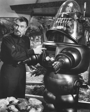 FORBIDDEN PLANET with Walter Pidgeon and Robby the Robot