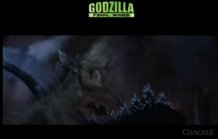 GODZILLA Final Wars - Godzilla's tail smacking Tuna-Head down