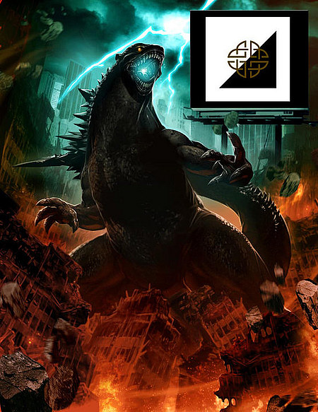 GODZILLA promo art from Legendary Pictures