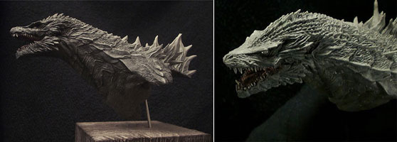 Godzilla Bust Model