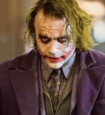Heath Ledger as the Joker, in THE DARK KNIGHT