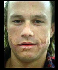 Heath Ledger in Joker Makeup