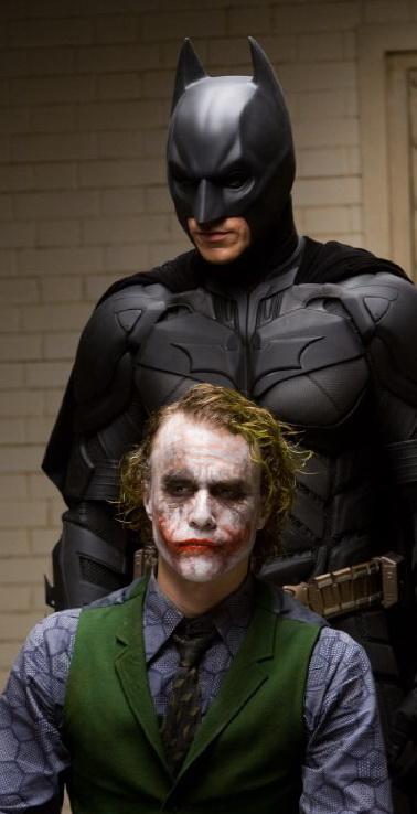 The Batman questions The Joker in THE DARK KNIGHT