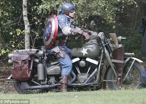 Captain America first look Stunt Double Photo
