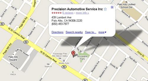 Precision Automotive in Palo Alto