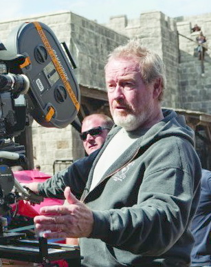 Ridley Scott on the set of Robin Hood