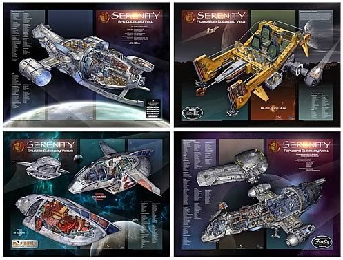 Serenity Firefly class ship cut-away