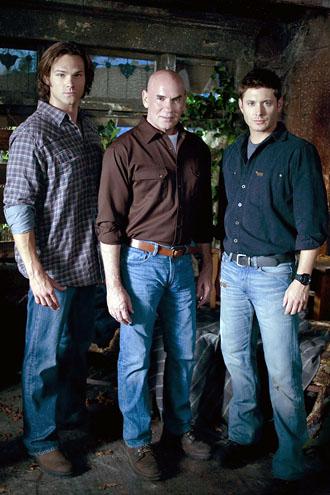 Supernatural Jared Padalecki Mitch Pileggi and Jensen Ackles