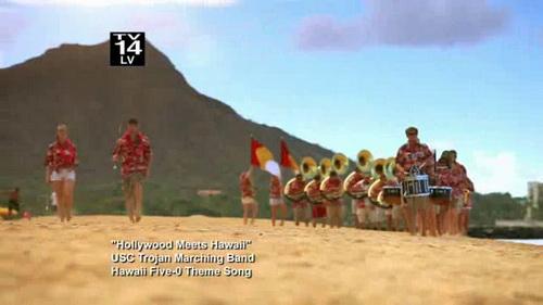 USC Trojan Marching Band takes on Hawaii Five-0 Theme 00