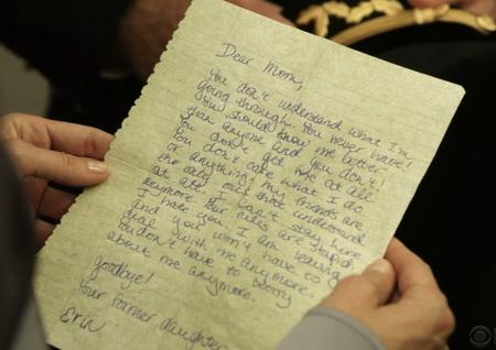 Blue Bloods - teen letter