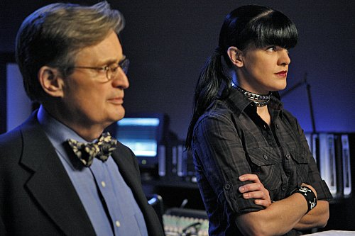 David McCallum and Pauley Perrette in NCIS