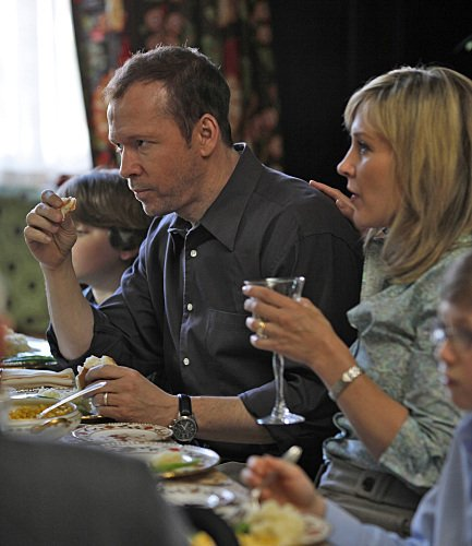 Donnie Wahlberg and Amy Carlson in Blue Bloods on CBS