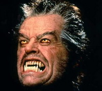 Jack Nicholson as a Werewolf in Wolf (1994)