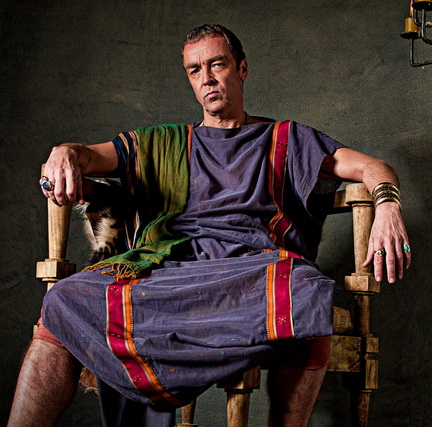John Hannah as Batiatus in Spartacus Blood and Sand promo art