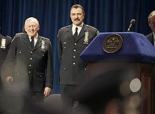 Len Cariou and Tom Selleck in Blue Bloods