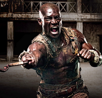 Peter Mensah as Doctore in Spartacus Blood and Sand promo art