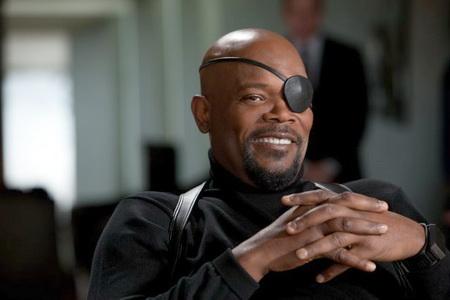 Samuel L Jackson as Nick Fury in Iron Man 2
