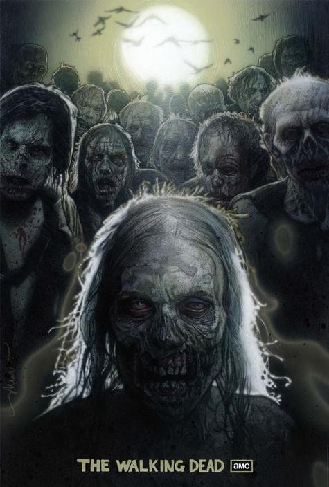 The Walking Dead Comic promo art one sheet