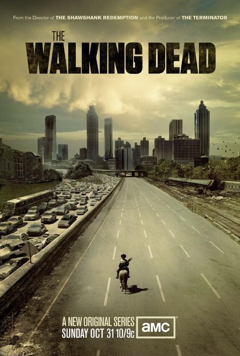 The Walking Dead on AMC promo art one sheet