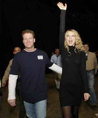 Dale Earnhardt Jr and Taylor Swift at 2008 Nashville Sound and Speed