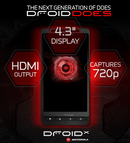 Droid X promo art