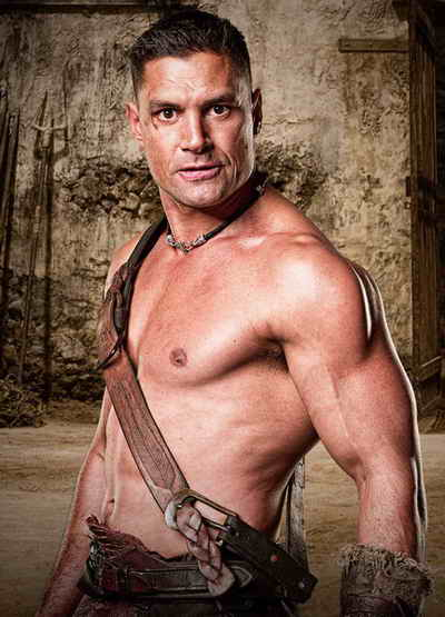 Manu Bennett as Crixus in Spartacus Gods of the Arena