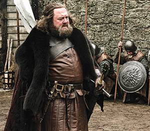 Mark Addy as King Robert in Game of Thrones